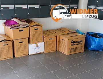 WIDMER UMZUG Bern - Kartons Verpackung