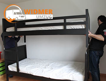 WIDMER UMZUG Bern - Bett Aufbau